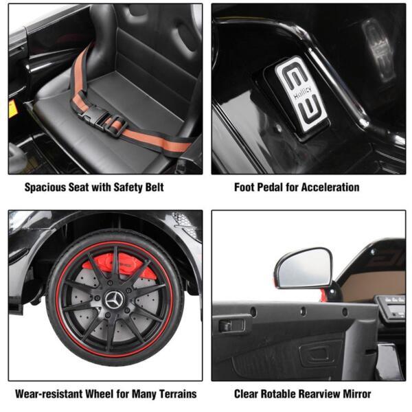 Mercedes Benz Licensed AMG GT 12V Ride On Car for Kids, Black mercedes benz licensed amg gt 12v ride on car for kids black 35 1