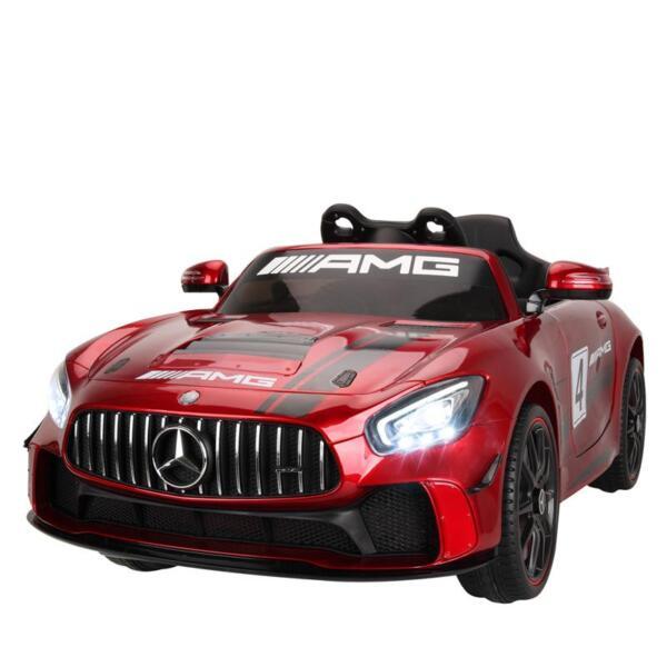 12V Electric Licensed Mercedes Benz AMG GT Kid Ride on Car, Red mercedes benz licensed amg gt 12v ride on car for kids red 0