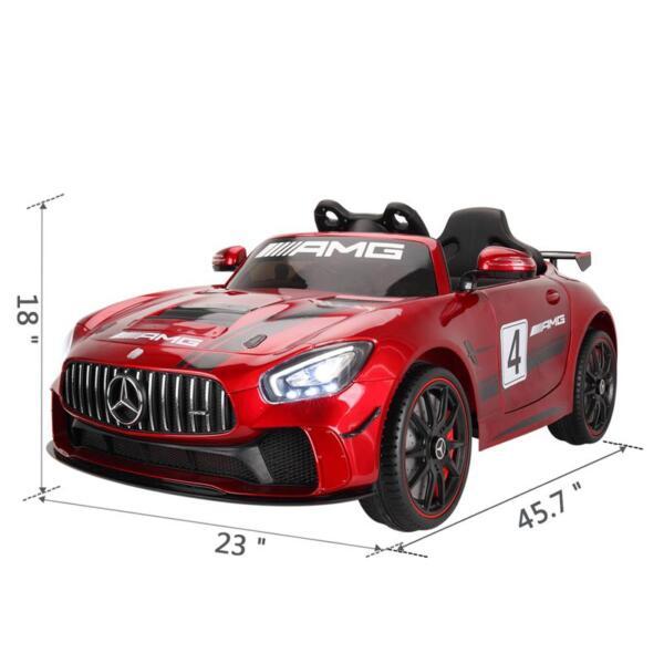 12V Electric Licensed Mercedes Benz AMG GT Kid Ride on Car, Red mercedes benz licensed amg gt 12v ride on car for kids red 1