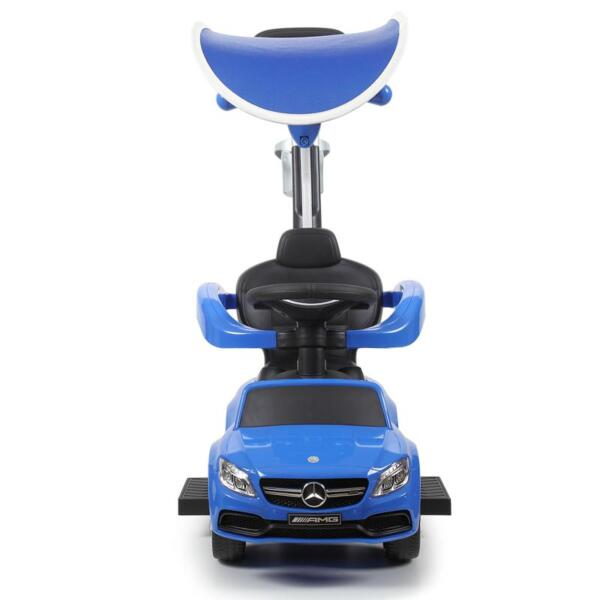 Mercedes Benz Push Car For Toddlers With Canopy, Blue mercedes benz licensed kids ride on push car blue 4
