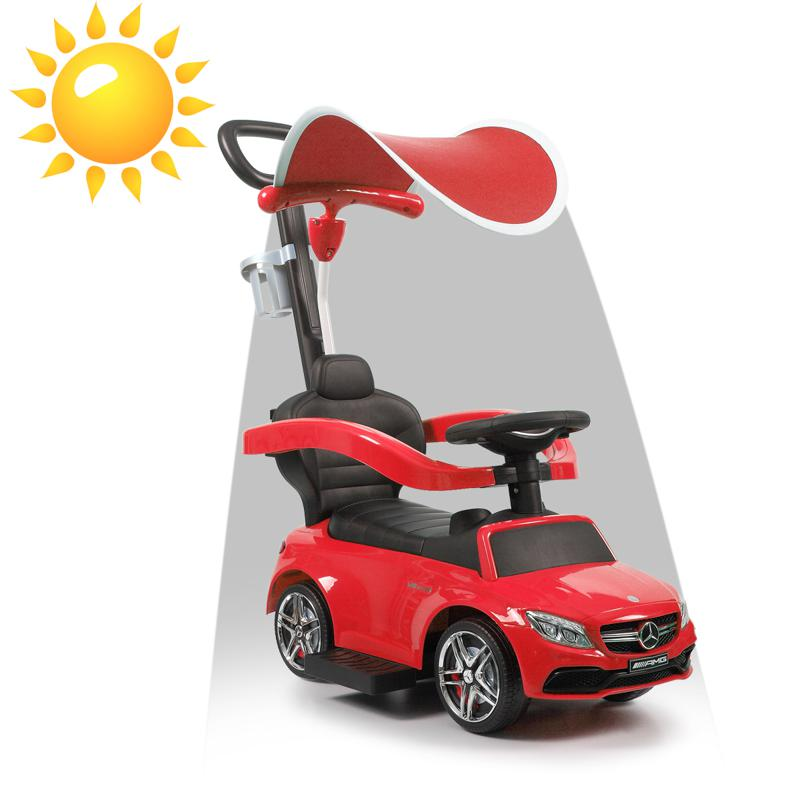 Mercedes Benz Push Car For Toddlers With Canopy, Red mercedes benz licensed kids ride on push car red 15 1