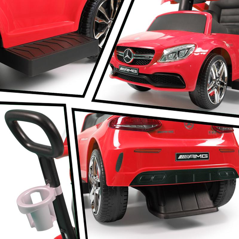 Mercedes Benz Push Car For Toddlers With Canopy, Red mercedes benz licensed kids ride on push car red 24 1