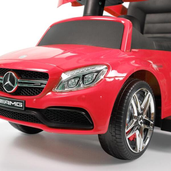 Mercedes Benz Push Car For Toddlers With Canopy, Red mercedes benz licensed kids ride on push car red 34