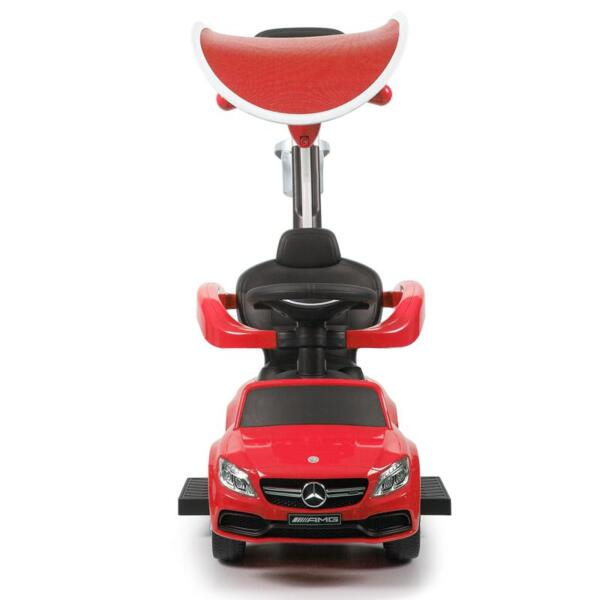 Mercedes Benz Push Car For Toddlers With Canopy, Red mercedes benz licensed kids ride on push car red 5