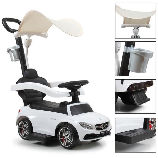 Mercedes Benz Licensed Kids Ride-on Push Car, White mercedes benz licensed kids ride on push car white 16 1