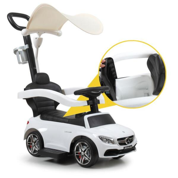 Mercedes Benz Licensed Kids Ride-on Push Car, White mercedes benz licensed kids ride on push car white 17