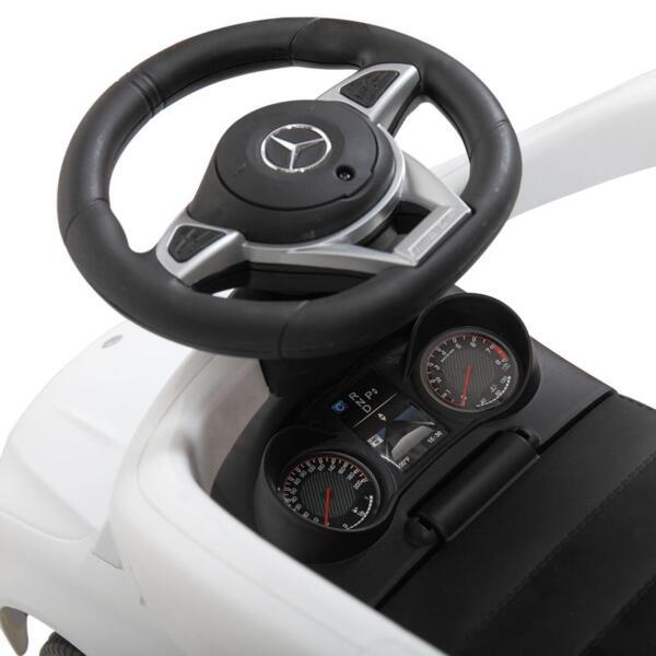Mercedes Benz Licensed Kids Ride-on Push Car, White mercedes benz licensed kids ride on push car white 30