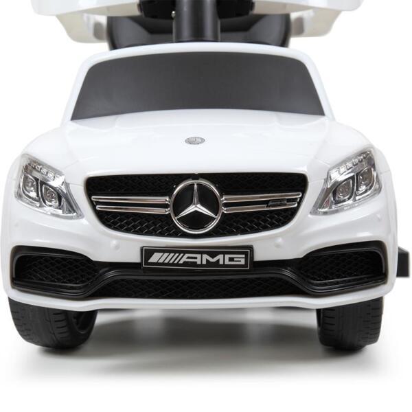 Mercedes Benz Licensed Kids Ride-on Push Car, White mercedes benz licensed kids ride on push car white 34