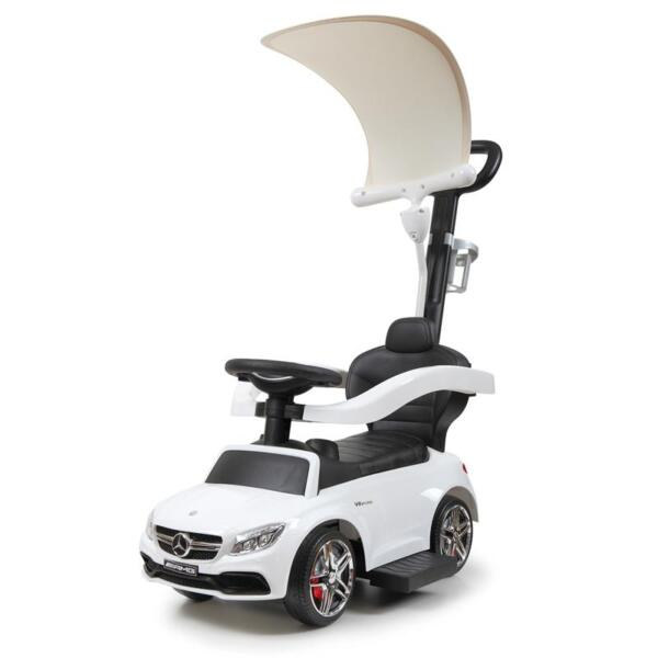 Mercedes Benz Licensed Kids Ride-on Push Car, White mercedes benz licensed kids ride on push car white 5