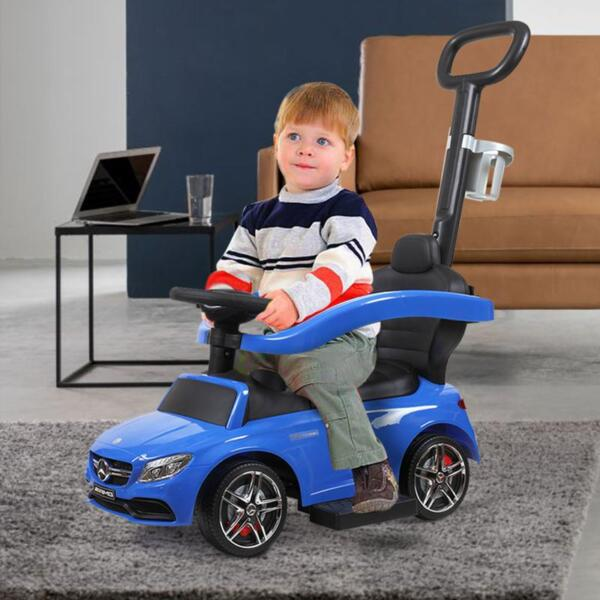 Mercedes Benz Ride On Push Car for Toddlers, Blue mercedes benz licensed ride on push car for toddlers aged 1 3 years blue 11 1