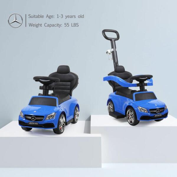 Mercedes Benz Ride On Push Car for Toddlers, Blue mercedes benz licensed ride on push car for toddlers aged 1 3 years blue 12