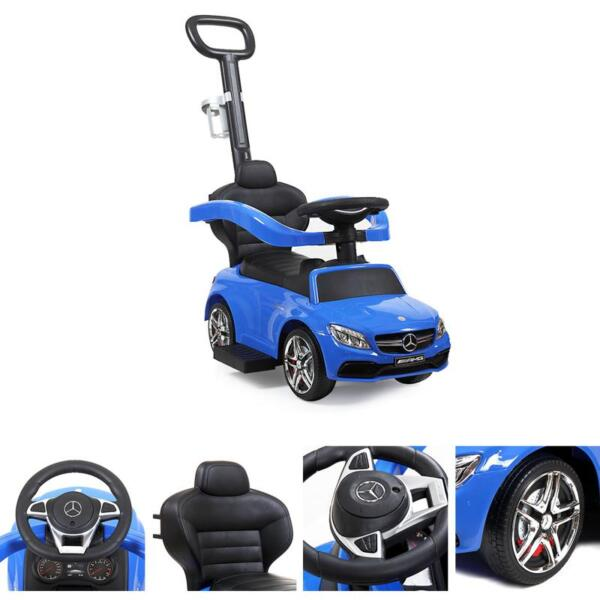 Mercedes Benz Ride On Push Car for Toddlers, Blue mercedes benz licensed ride on push car for toddlers aged 1 3 years blue 19