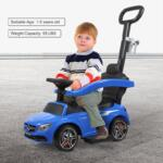 Mercedes Benz Ride On Push Car for Toddlers, Blue mercedes benz licensed ride on push car for toddlers aged 1 3 years blue 2