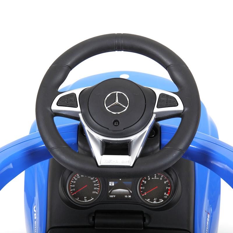 Mercedes Benz Ride On Push Car for Toddlers, Blue mercedes benz licensed ride on push car for toddlers aged 1 3 years blue 21 2