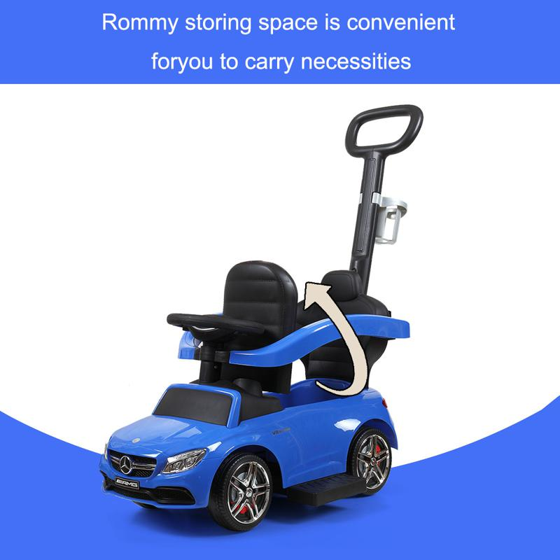 Mercedes Benz Ride On Push Car for Toddlers, Blue mercedes benz licensed ride on push car for toddlers aged 1 3 years blue 6 1