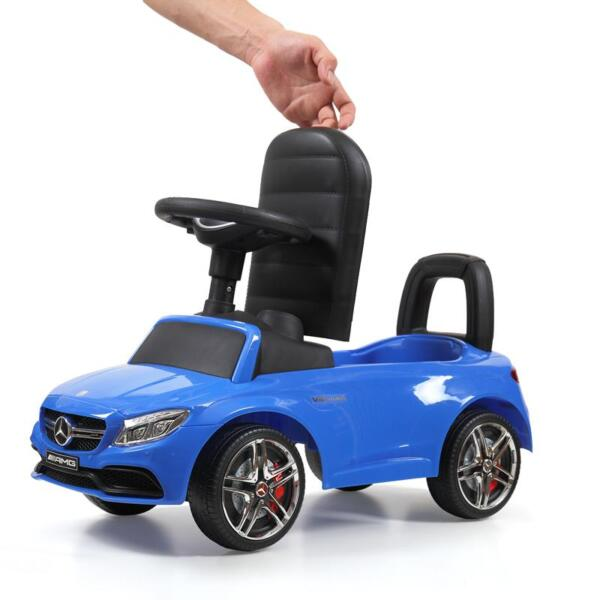 Mercedes Benz Push Ride-on Car for Toddlers, Blue mercedes benz push ride on car for toddlers blue 16