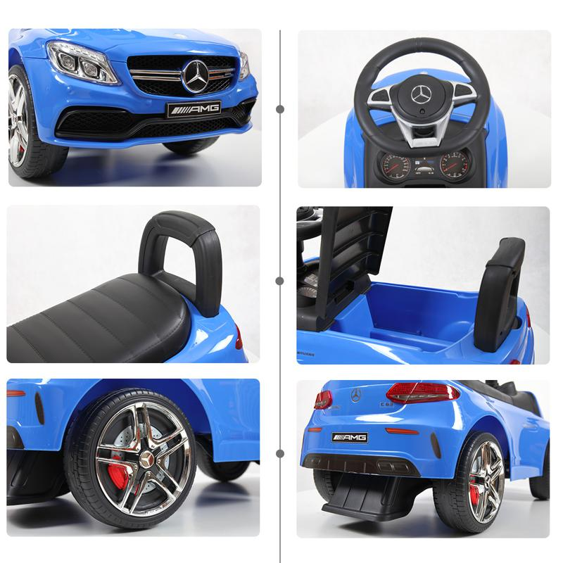 Mercedes Benz Ride On Push Car for Kids, Blue mercedes benz push ride on car for toddlers blue 25 1