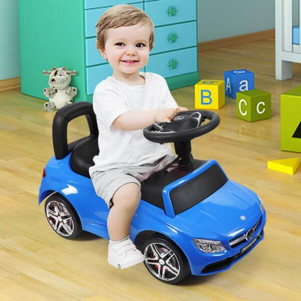 Mercedes Benz Push Ride-on Car for Toddlers, Blue mercedes benz push ride on car for toddlers blue 28 1