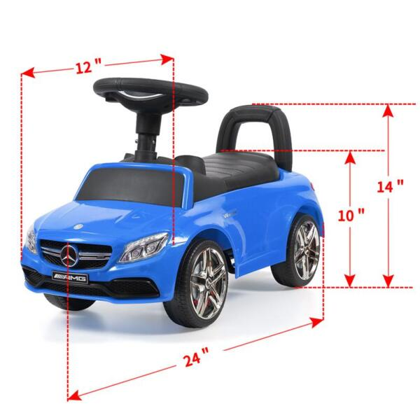 Mercedes Benz Push Ride-on Car for Toddlers, Blue mercedes benz push ride on car for toddlers blue 30
