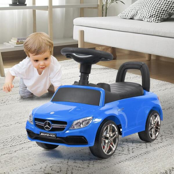 Mercedes Benz Push Ride-on Car for Toddlers, Blue mercedes benz push ride on car for toddlers blue 31 1