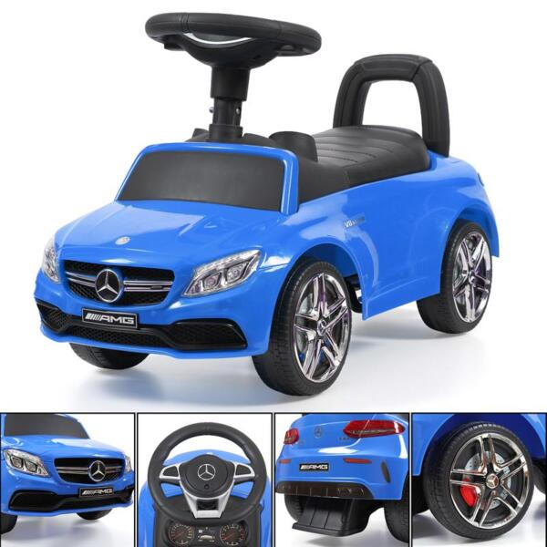 Mercedes Benz Push Ride-on Car for Toddlers, Blue mercedes benz push ride on car for toddlers blue 32