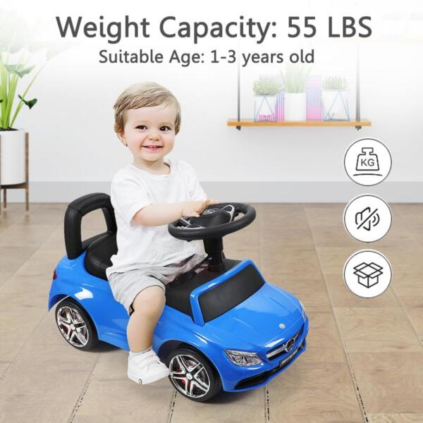Mercedes Benz Push Ride-on Car for Toddlers, Blue mercedes benz push ride on car for toddlers blue 33