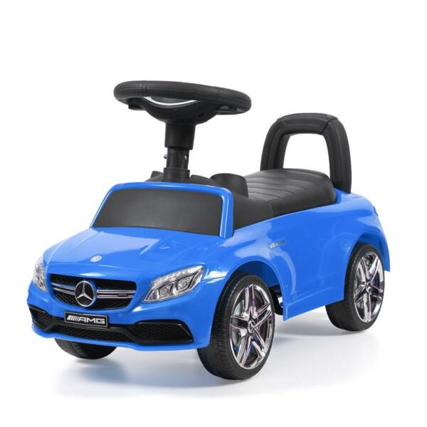 Mercedes Benz Push Ride-on Car for Toddlers, Blue mercedes benz push ride on car for toddlers blue 5