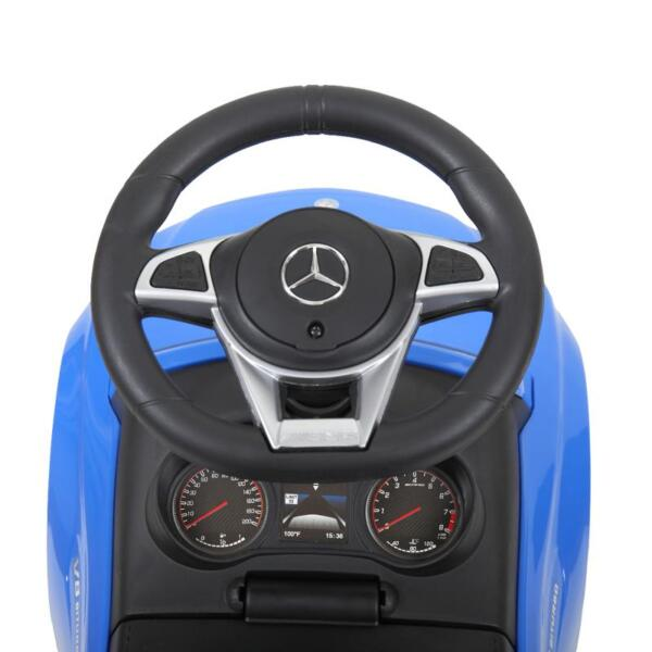 Mercedes Benz Push Ride-on Car for Toddlers, Blue mercedes benz push ride on car for toddlers blue 9 1