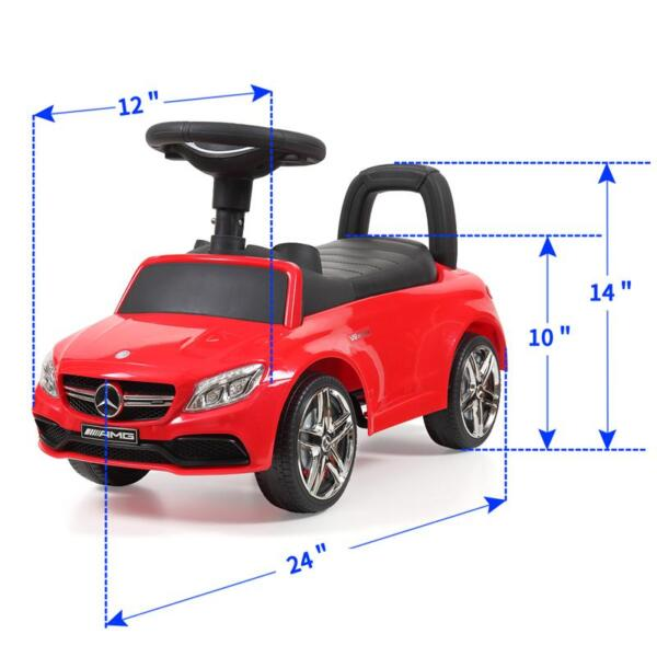 Mercedes Benz Push Ride-on Car for Toddlers, Red mercedes benz push ride on car for toddlers red 12