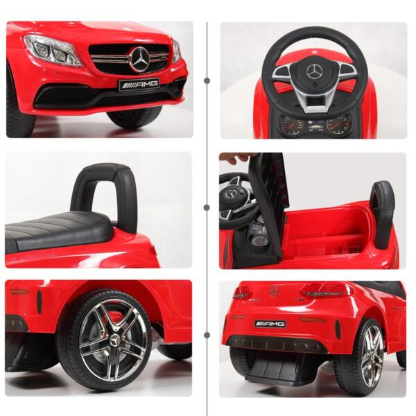 Mercedes Benz Push Ride-on Car for Toddlers, Red mercedes benz push ride on car for toddlers red 28 1