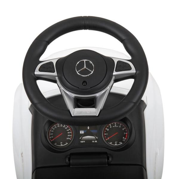 Mercedes Benz Ride On Push Car for Kids, White mercedes benz push ride on car for toddlers white 10 1