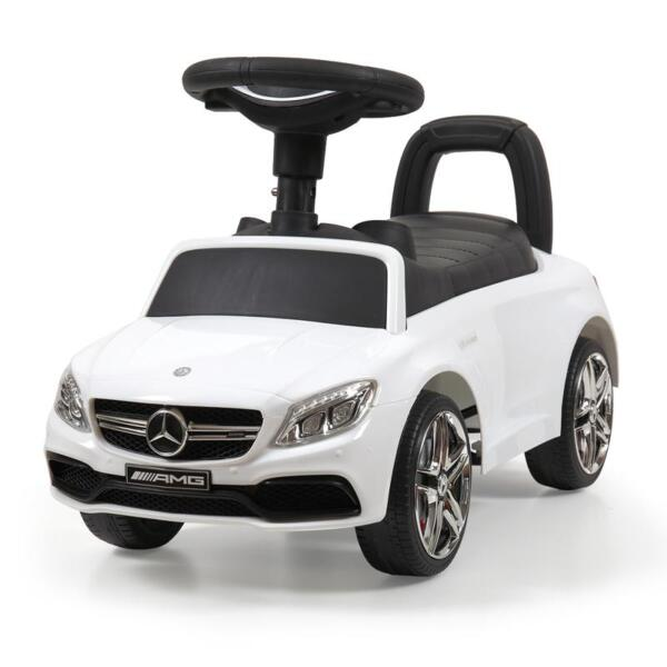 Mercedes Benz Ride On Push Car for Kids, White mercedes benz push ride on car for toddlers white 11