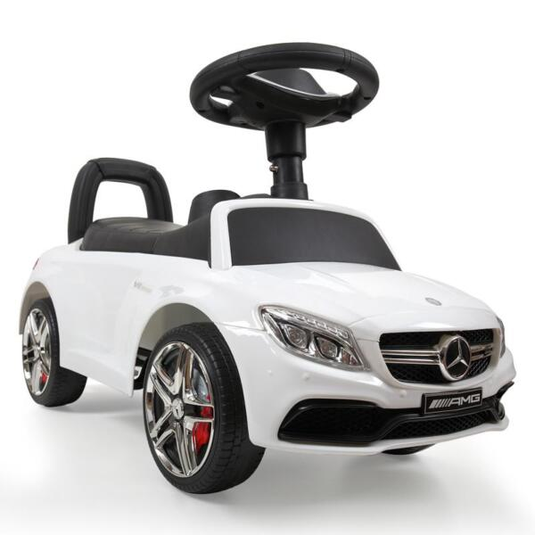 Mercedes Benz Ride On Push Car for Kids, White mercedes benz push ride on car for toddlers white 12