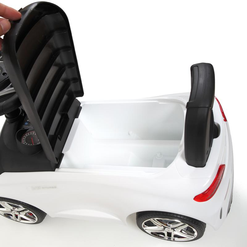 Mercedes Benz Ride On Push Car for Kids, White mercedes benz push ride on car for toddlers white 16 1