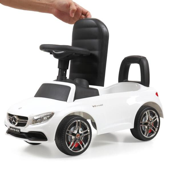 Mercedes Benz Ride On Push Car for Kids, White mercedes benz push ride on car for toddlers white 18