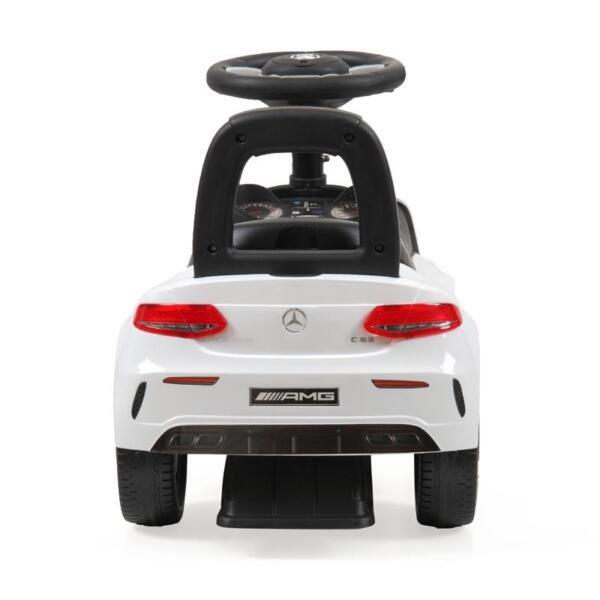 Mercedes Benz Ride On Push Car for Kids, White mercedes benz push ride on car for toddlers white 21