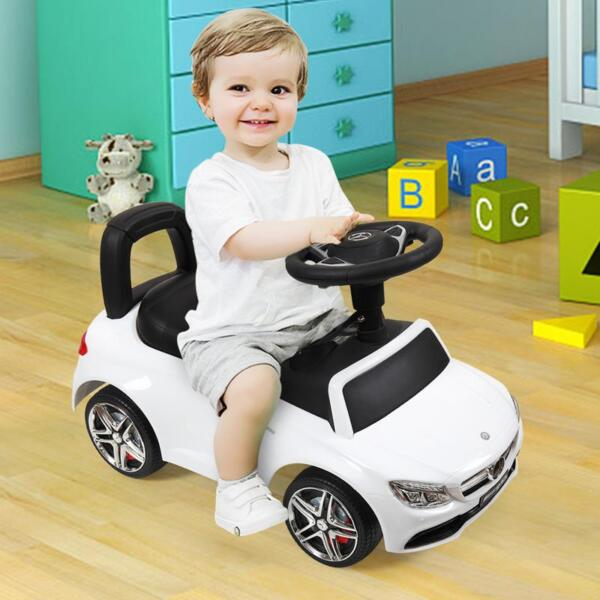 Mercedes Benz Ride On Push Car for Kids, White mercedes benz push ride on car for toddlers white 27 1