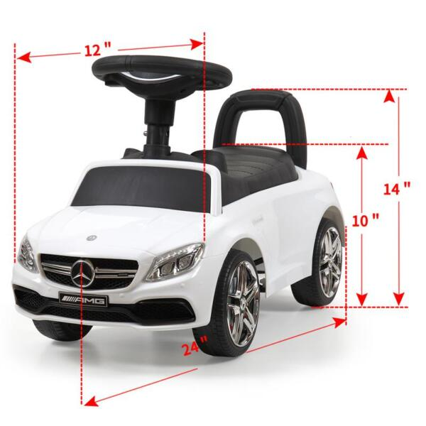Mercedes Benz Ride On Push Car for Kids, White mercedes benz push ride on car for toddlers white 28