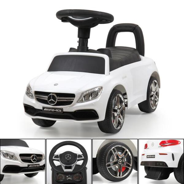 Mercedes Benz Ride On Push Car for Kids, White mercedes benz push ride on car for toddlers white 30