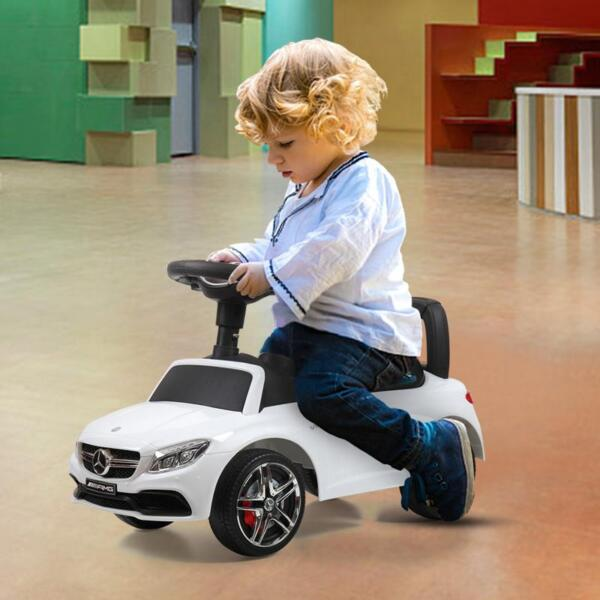 Mercedes Benz Ride On Push Car for Kids, White mercedes benz push ride on car for toddlers white 33 1