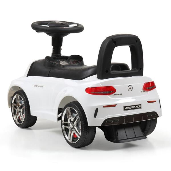 Mercedes Benz Ride On Push Car for Kids, White mercedes benz push ride on car for toddlers white 5