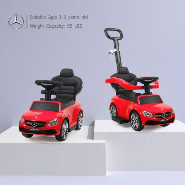 Mercedes Benz Ride-on Push Car for Toddlers Aged 1-3 Years, Red mercedes benz ride on push car for toddlers aged 1 3 years red 12