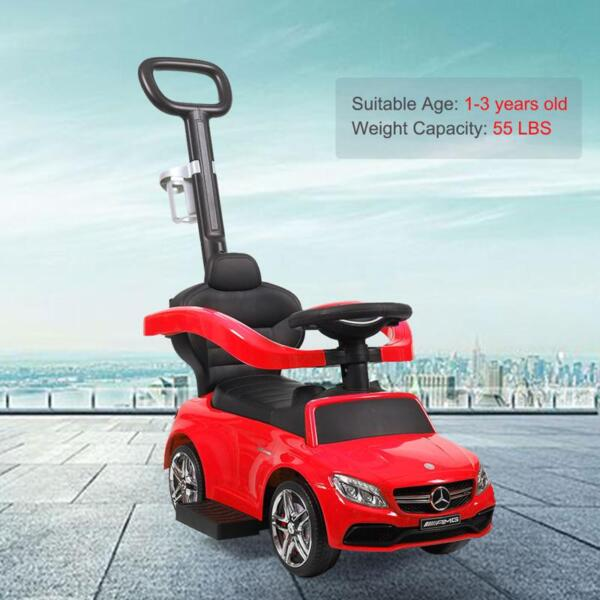 Mercedes Benz Ride-on Push Car for Toddlers Aged 1-3 Years, Red mercedes benz ride on push car for toddlers aged 1 3 years red 2 1