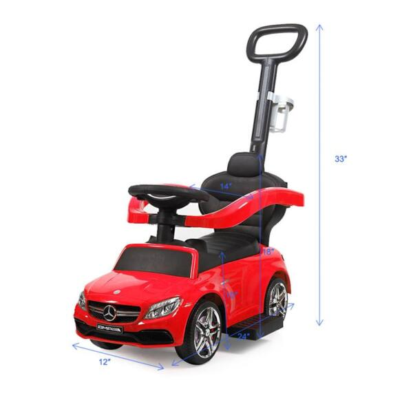 Mercedes Benz Ride-on Push Car for Toddlers Aged 1-3 Years, Red mercedes benz ride on push car for toddlers aged 1 3 years red 20