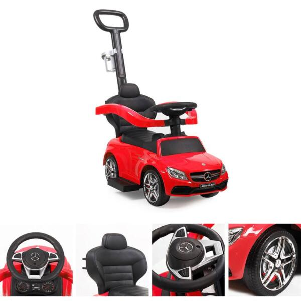Mercedes Benz Ride-on Push Car for Toddlers Aged 1-3 Years, Red mercedes benz ride on push car for toddlers aged 1 3 years red 3