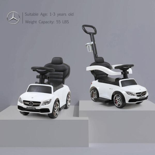 Mercedes Benz Ride-on Push Car for Toddlers Aged 1-3 Years, White mercedes benz ride on push car for toddlers aged 1 3 years white 12