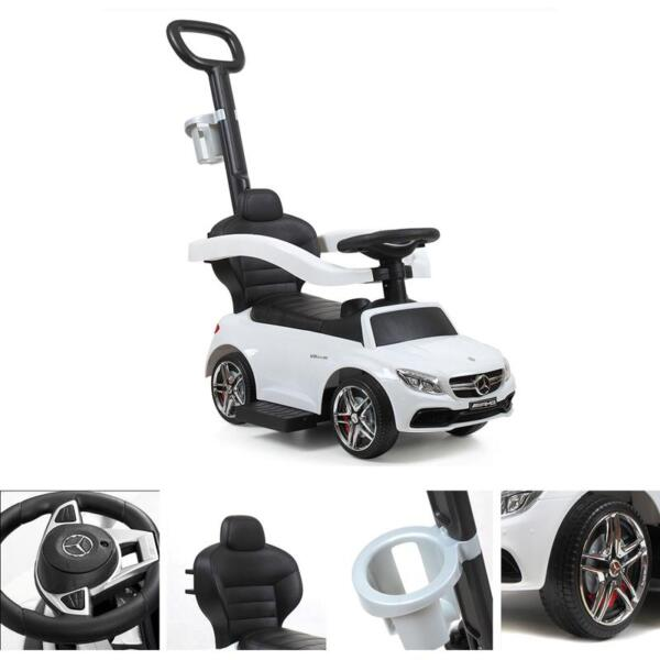 Mercedes Benz Ride-on Push Car for Toddlers Aged 1-3 Years, White mercedes benz ride on push car for toddlers aged 1 3 years white 18
