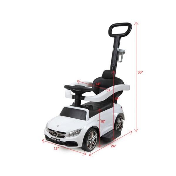 Mercedes Benz Ride-on Push Car for Toddlers Aged 1-3 Years, White mercedes benz ride on push car for toddlers aged 1 3 years white 20