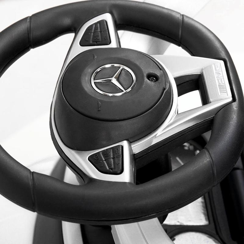 Mercedes Benz Ride On Push Car for Toddlers, White mercedes benz ride on push car for toddlers aged 1 3 years white 21 2