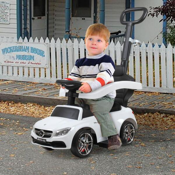Mercedes Benz Ride-on Push Car for Toddlers Aged 1-3 Years, White mercedes benz ride on push car for toddlers aged 1 3 years white 3